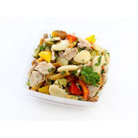 441. Bean salad with smoked chicken