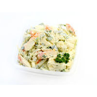 447. Crab stick salad with cauliflower