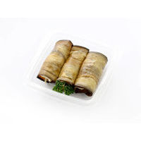 526. Eggplant rolls with cheese cream and vegetables
