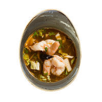 Tom Yum soup with tiger prawns